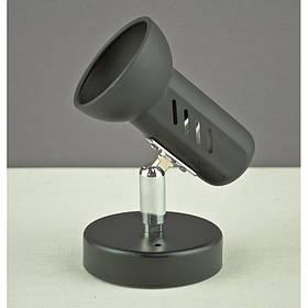 Светильник спот черный на одну лампу BK-901-40w e14 черный