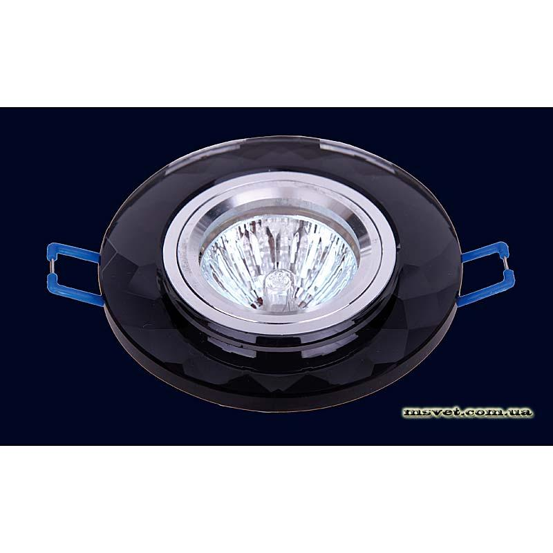 Точечный светильник черный на хроме LS-10824 черный