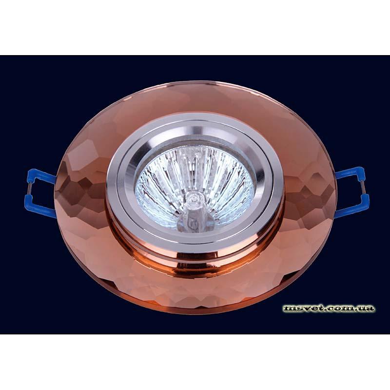 Точечный светильник коричневый на хроме LS-10825 коричневый