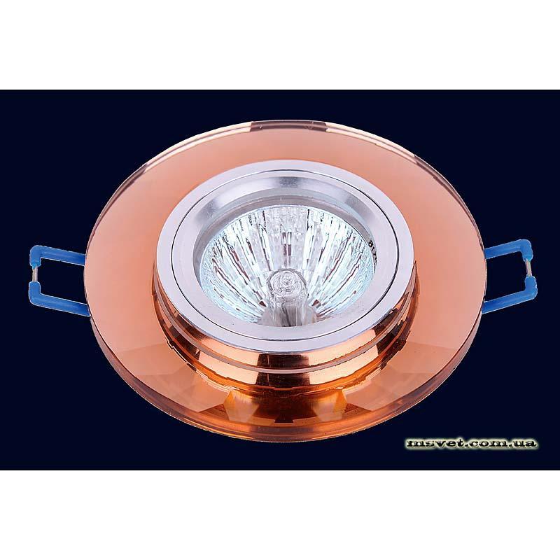 Точечный светильник коричневый на хроме LS-10831 коричневый