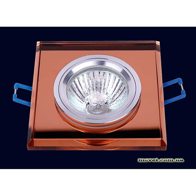 Точечный светильник коричневый на хроме LS-10834 коричневый