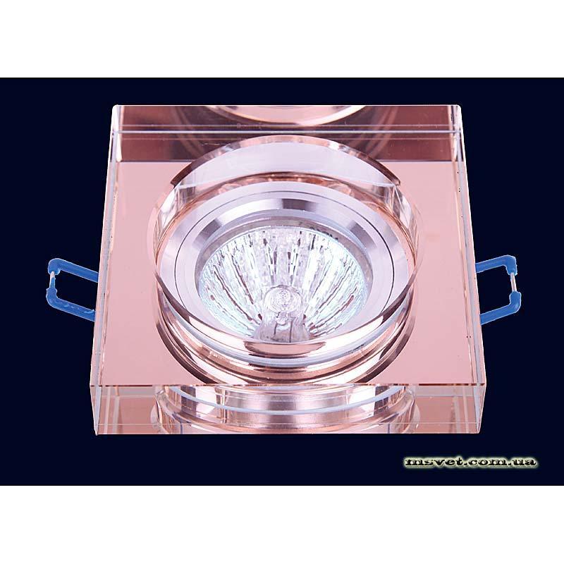 Точечный светильник коричневый на хроме LS-10838 коричневый