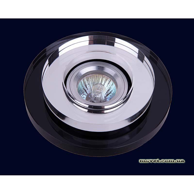 Точечный светильник зеркальный с черной основой LS-10849 основа черная