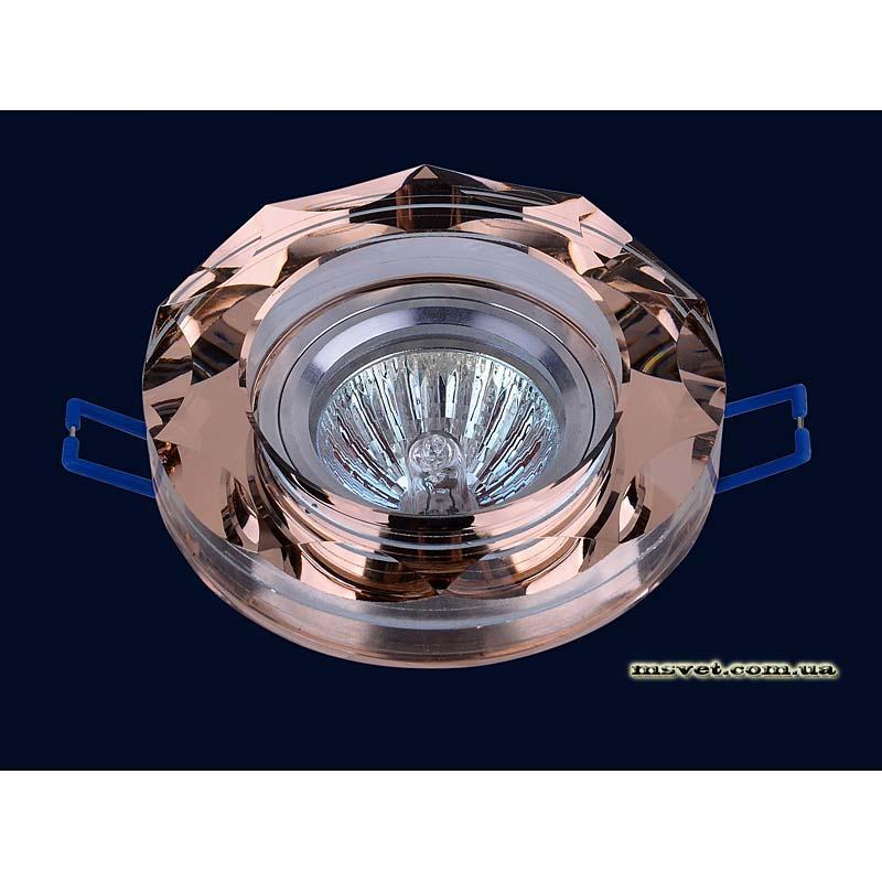 Точечный светильник коричневый на хроме LS-10866