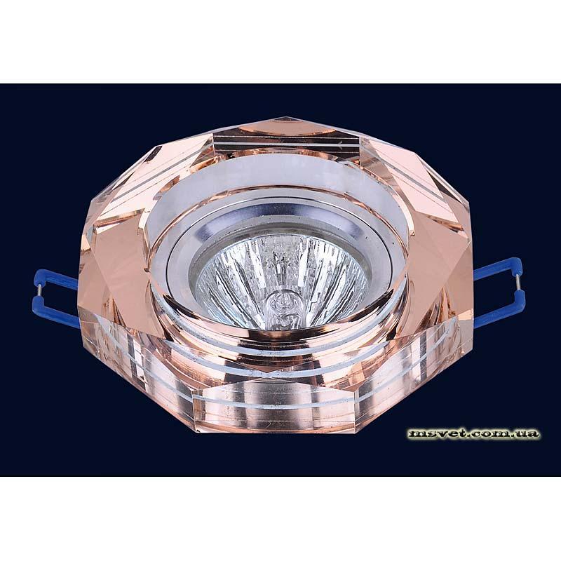 Точечный светильник коричневый на хроме LS-10868