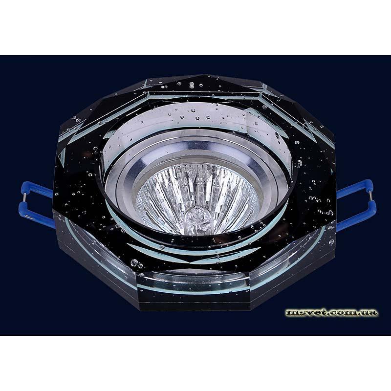 Точечный светильник черный на хроме LS-10870