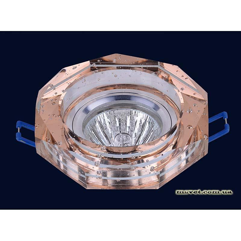 Точечный светильник коричневый на хроме LS-10871