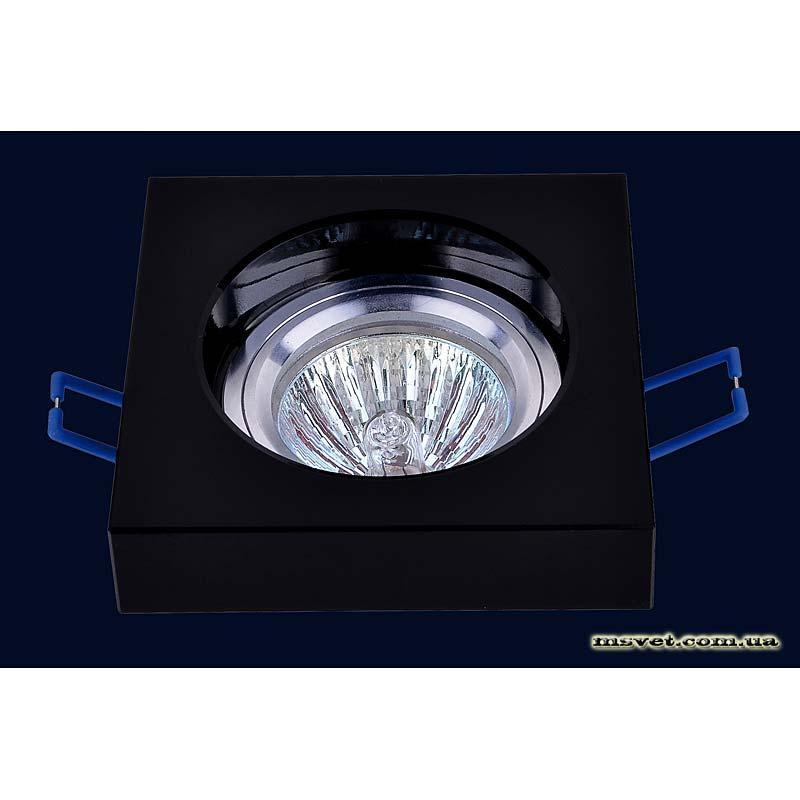 Точечный светильник черный на хроме LS-10875