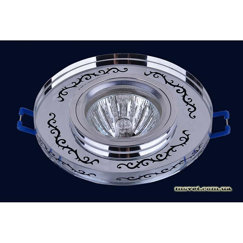 Точечный светильник зеркальный на хроме LS-10876