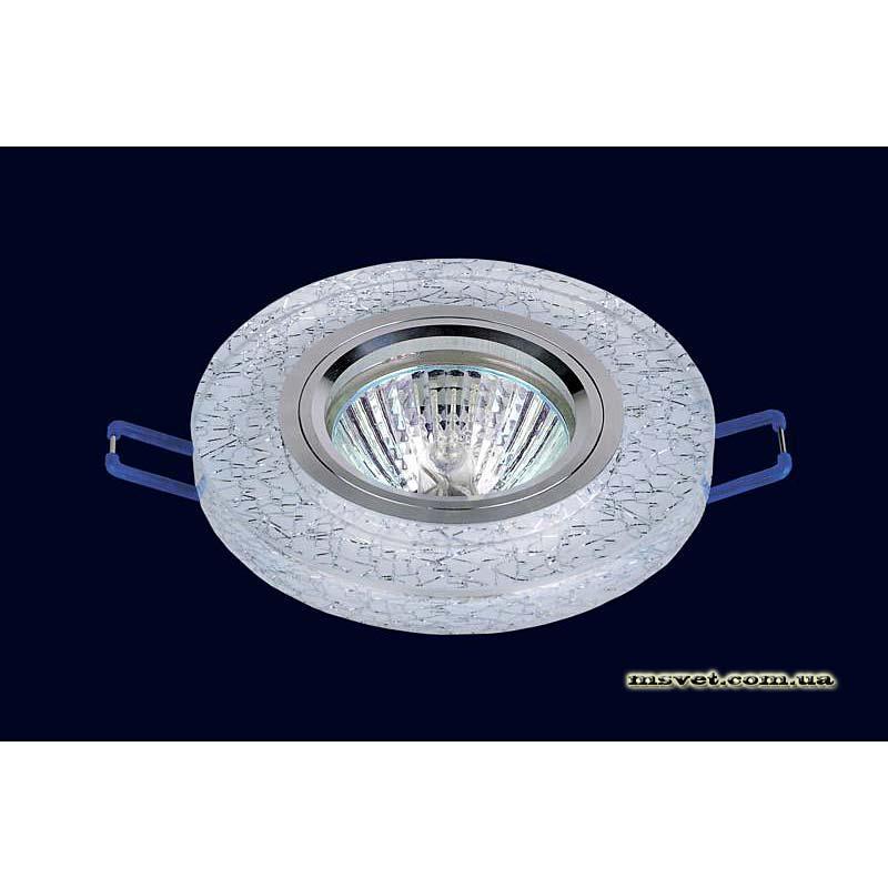 Точечный светильник мраморный-белый на хроме LS-10896