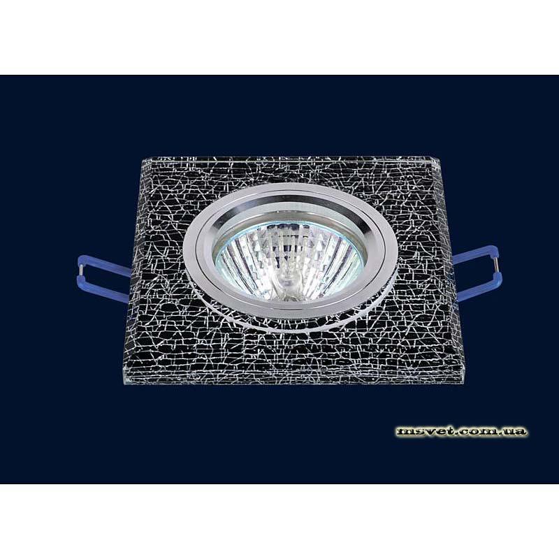 Точечный светильник мраморный-черный на хроме LS-10899