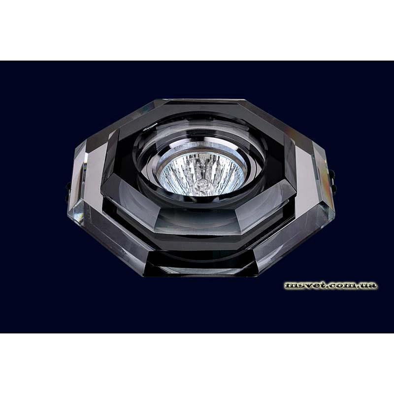 Точечный светильник черный на хроме LS-10902