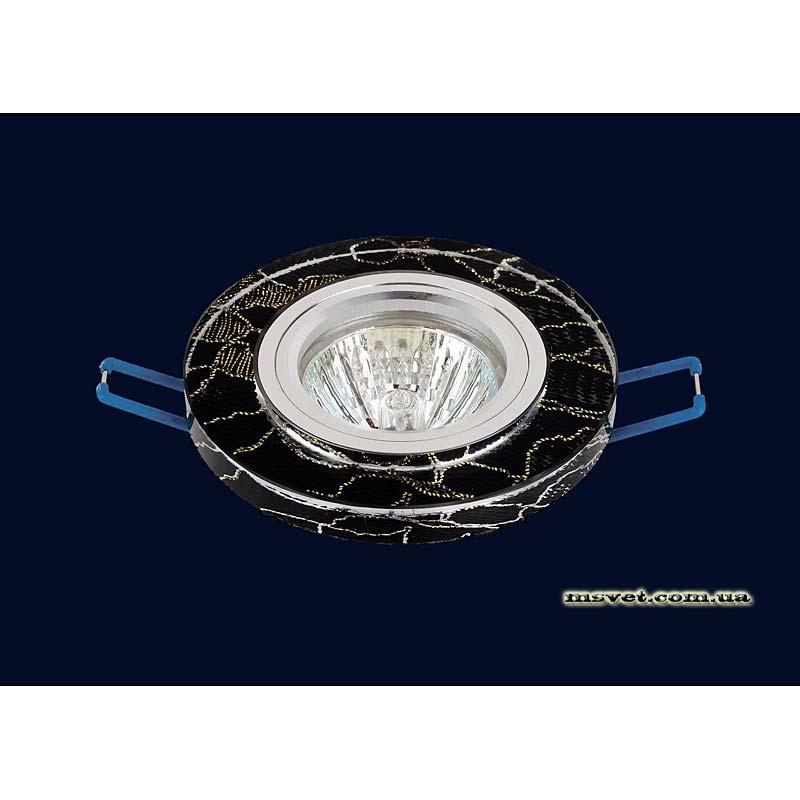 Точечный светильник мраморный-черный на хроме LS-10907