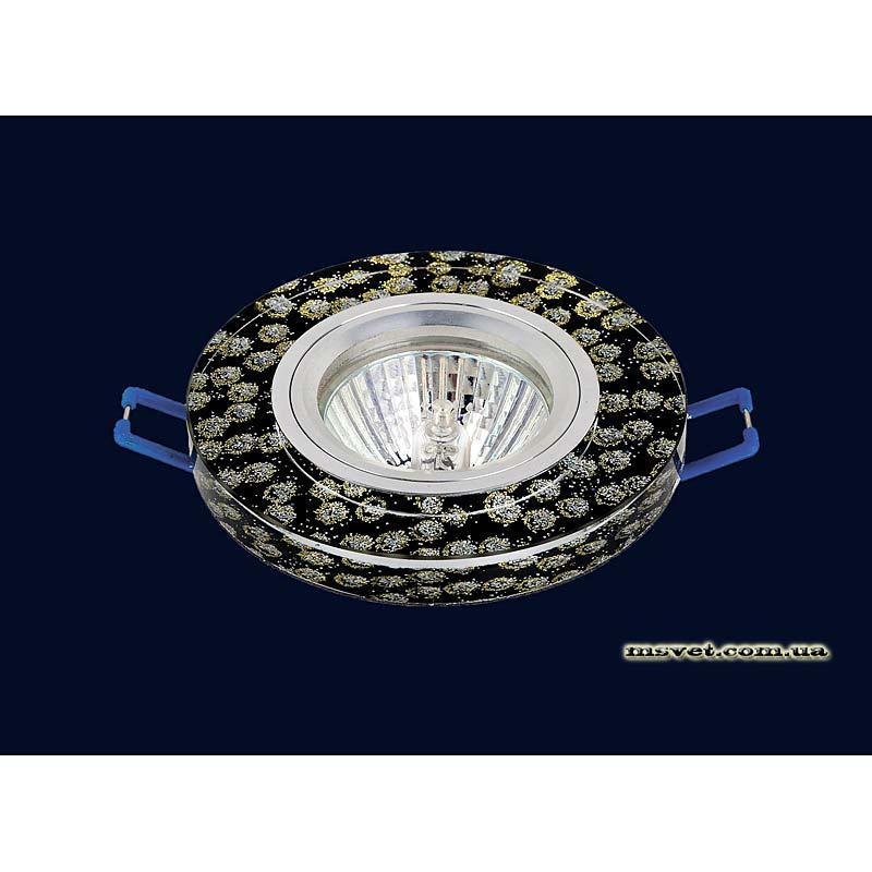 Точечный светильник черный на хроме LS-10910