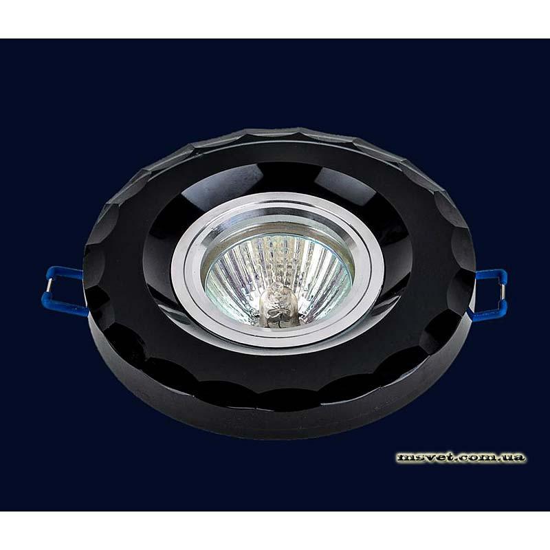 Точечный светильник черный на хроме LS-10918