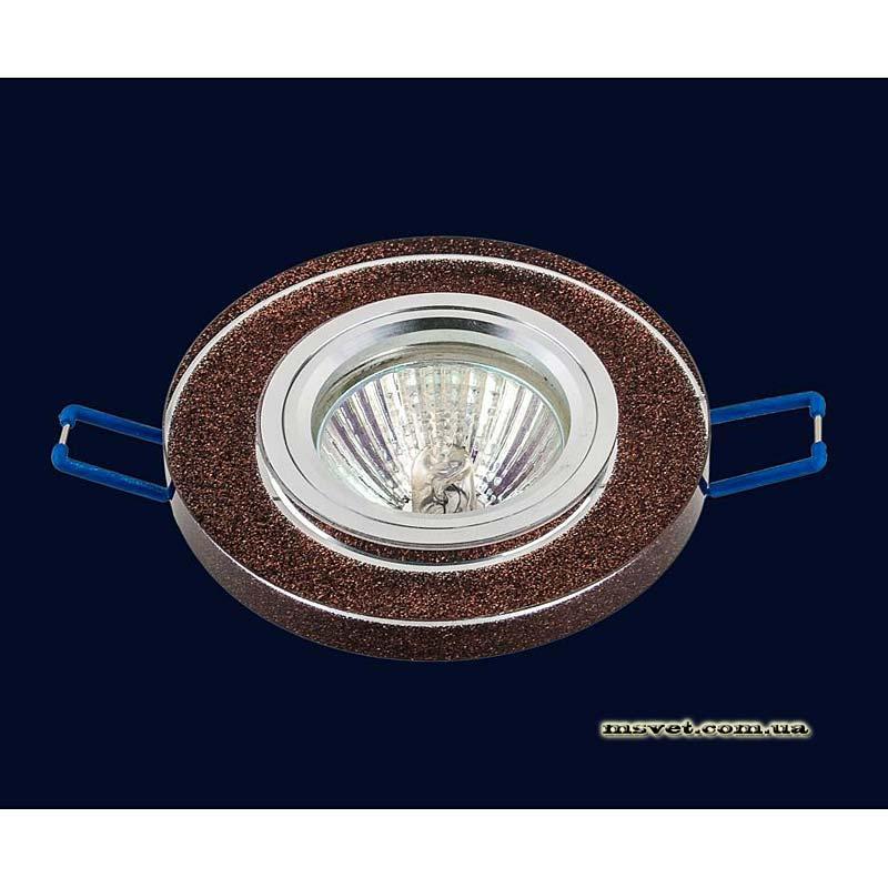 Точечный светильник коричневый на хроме LS-10921