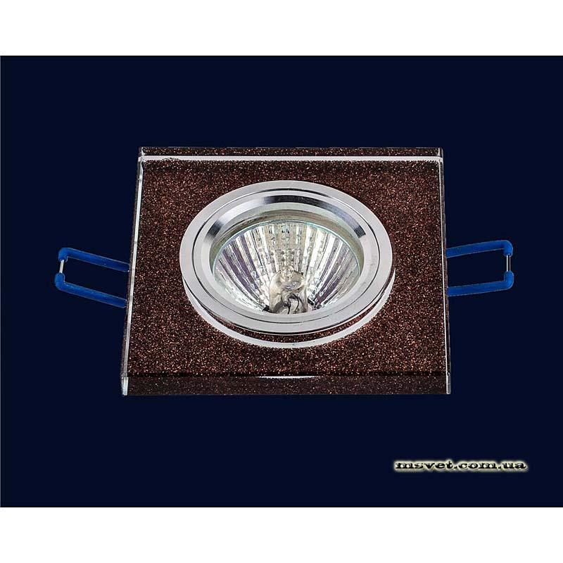 Точечный светильник коричневый на хроме LS-10920