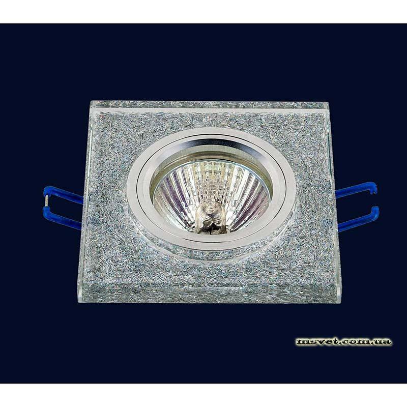 Точечный светильник серебро  на хроме LS-10924