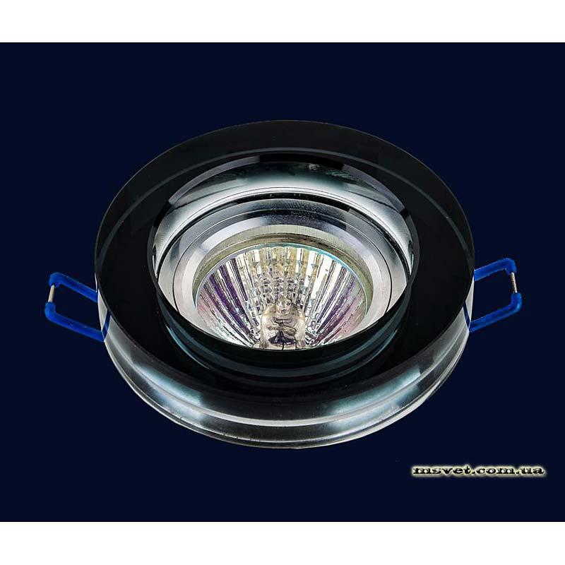 Точечный светильник черный на хроме LS-10930