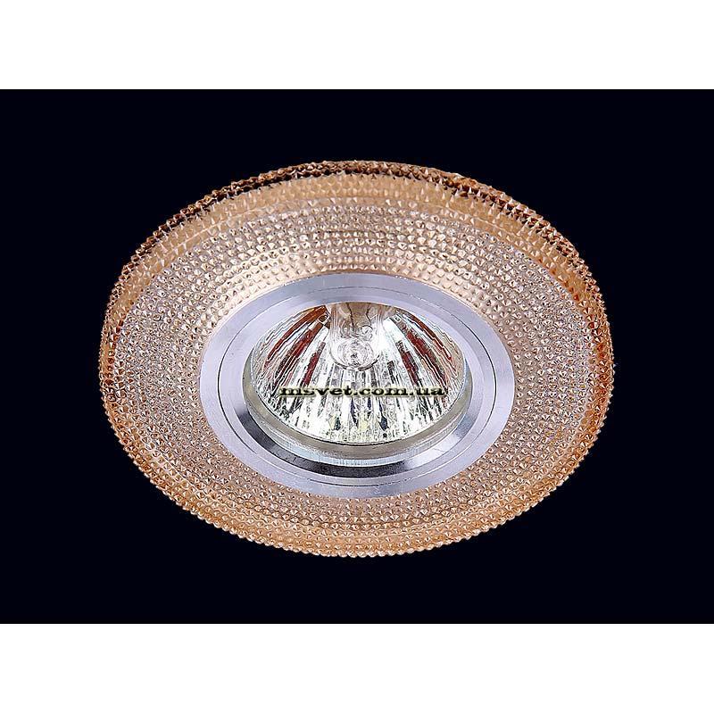 Точечный светильник коричневый на хроме LS-10955