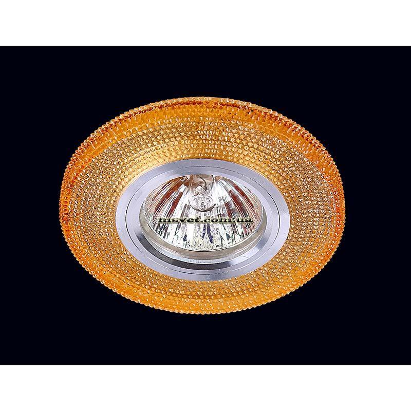 Точечный светильник оранжевый  на хроме LS-10959