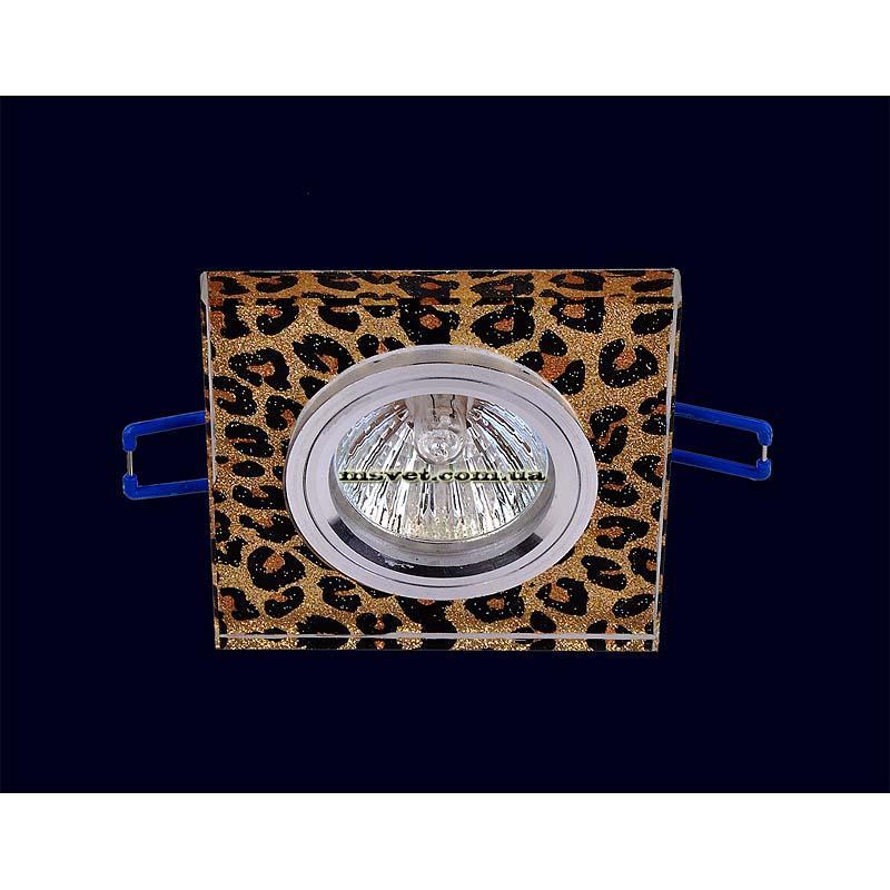Точечный светильник леопардового цвета на хроме LS-10982