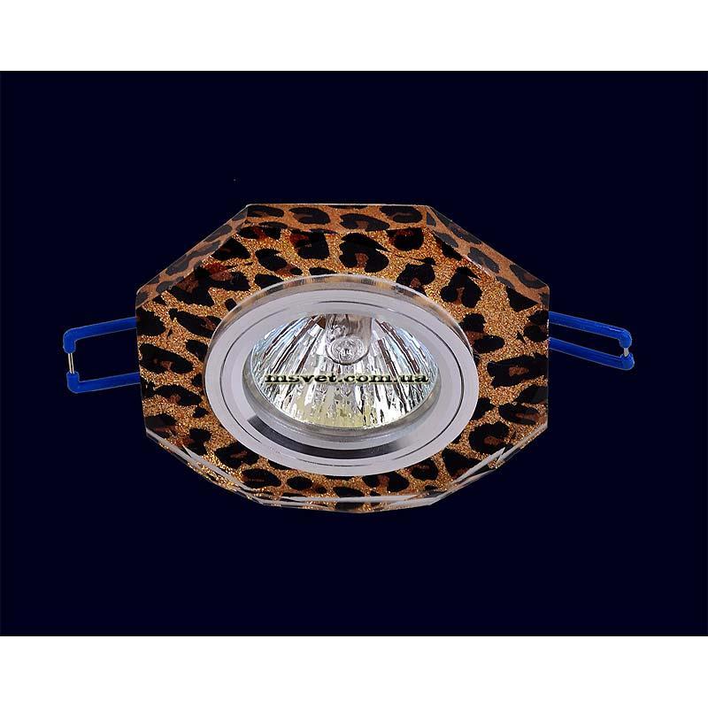 Точечный светильник леопардового цвета на хроме LS-10983