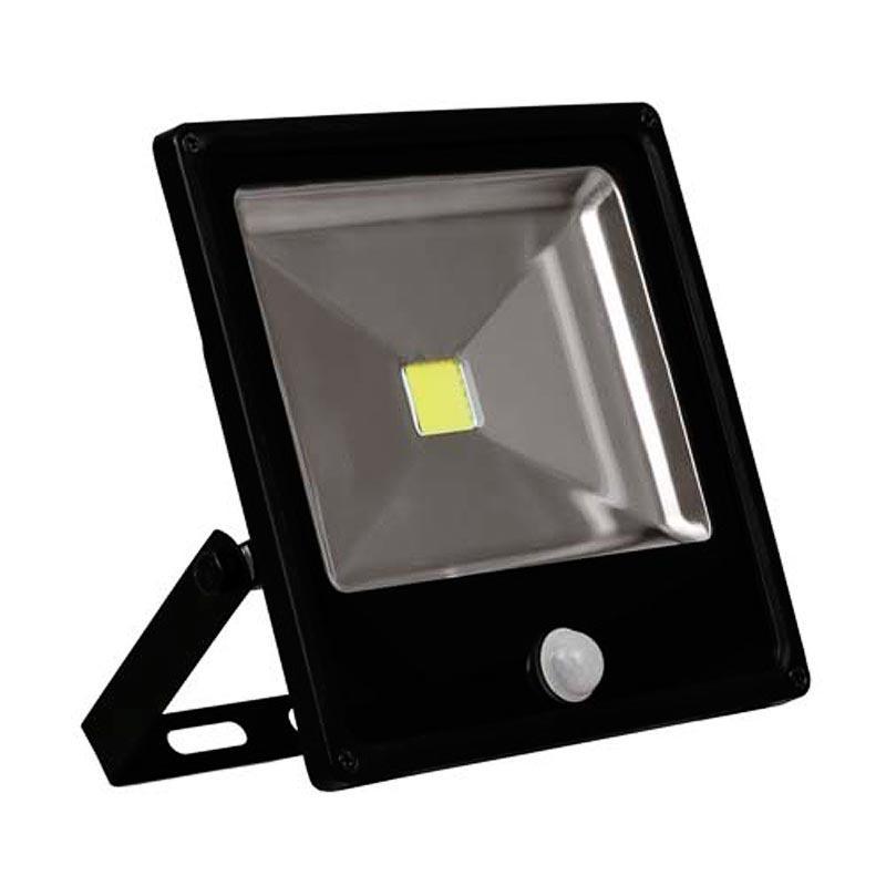 Прожектор LED COB «slim» 30W с датчиком движения черный Feron LL-862 1LED 30W 6400K 230V IP65 sensor
