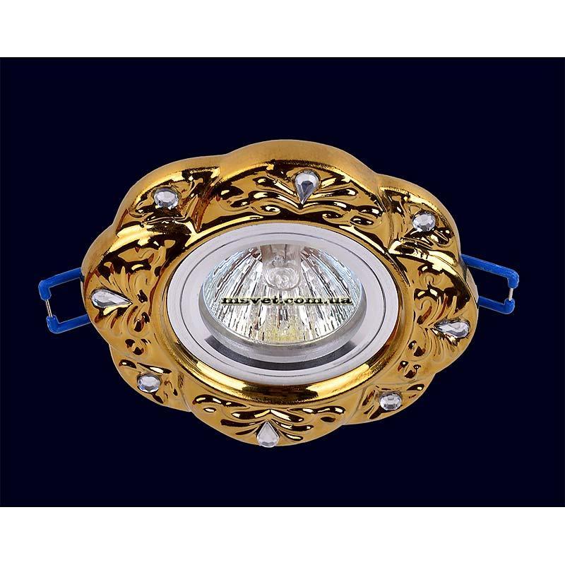 Точечный светильник, золото на хроме LS-10993
