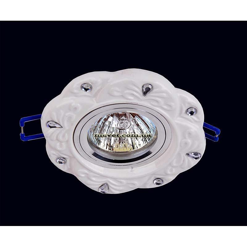Точечный светильник, белый на хроме LS-10991
