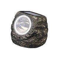 Светильник газонный «Камень» на солнечной батарее Feron E5220 2LED WT