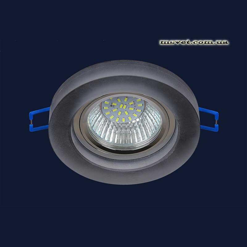 Точечный светильник черный на хроме LS-11351