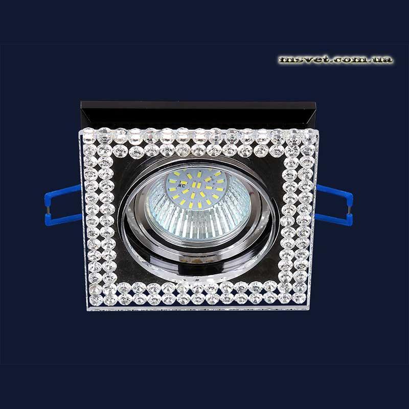 Точечный светильник черный на хроме LS-11357