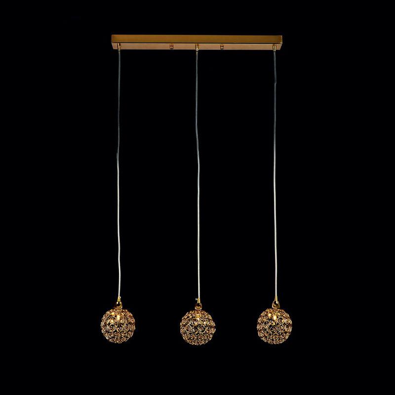 Люстра «Зельма 3» золото LS-11502-3 GD