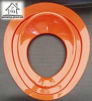 Детское сиденье (накладка) на унитаз Н008 (оранжевое)