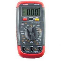 Мультиметр ua 33b, портативный тестер, цифровой, измерение тока, напряжения, сопротивления, тест диодов