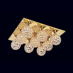 Люстра «Паола 9» золото LS-11666-9 GD