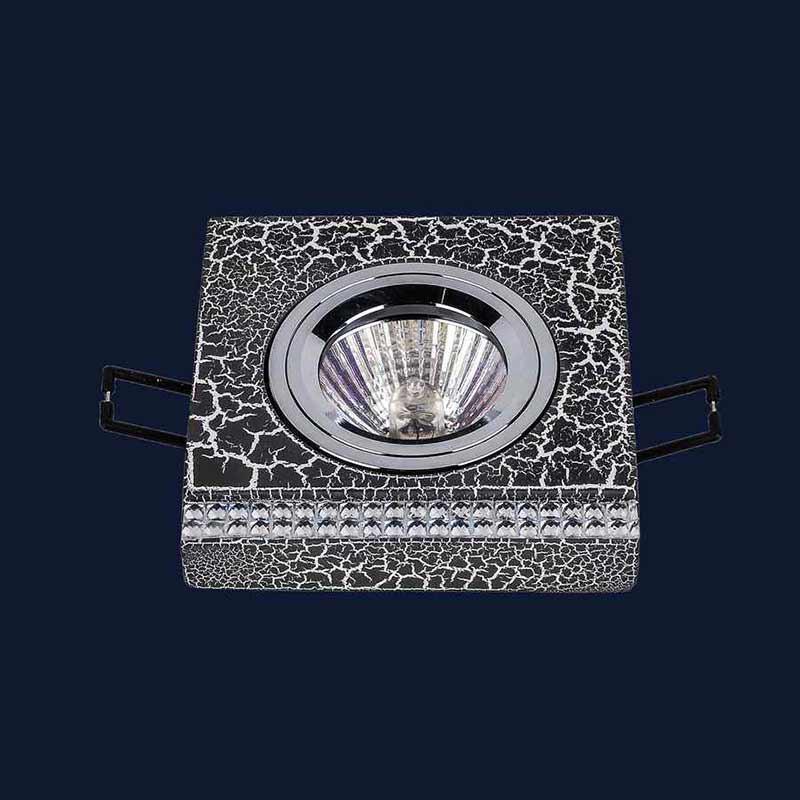 Встраиваемый точечный светильник LS-11776 CRAZE BK+SL
