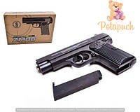 Детский игровой металлический пистолет Zm06