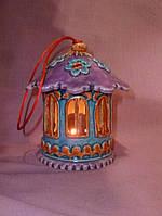 Керамический домик подсвечник