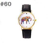 Женские часы с черным ремешком Elephant (60)