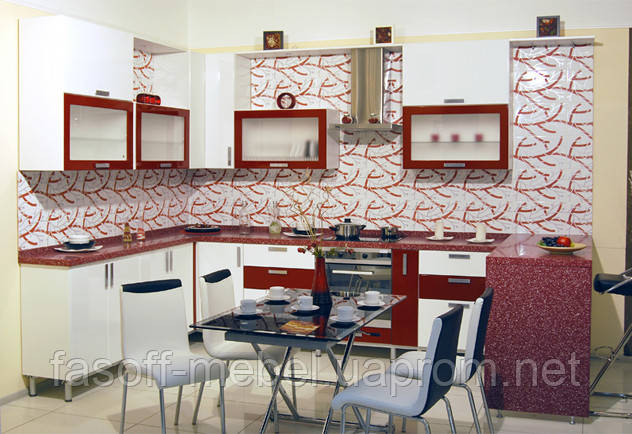 Кухня на заказ модерн МДФ пленочный 012