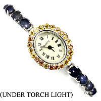 Часы серебряные 925 с натуральными камнями