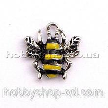 Подвеска с эмалью Пчелка (1,7*1,6 см)
