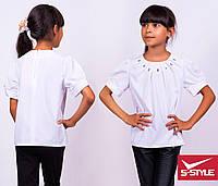 Очень интересная блузка в школу с длинным рукавом