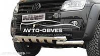 Защита бампера VW Amarok двойной ус с грилем