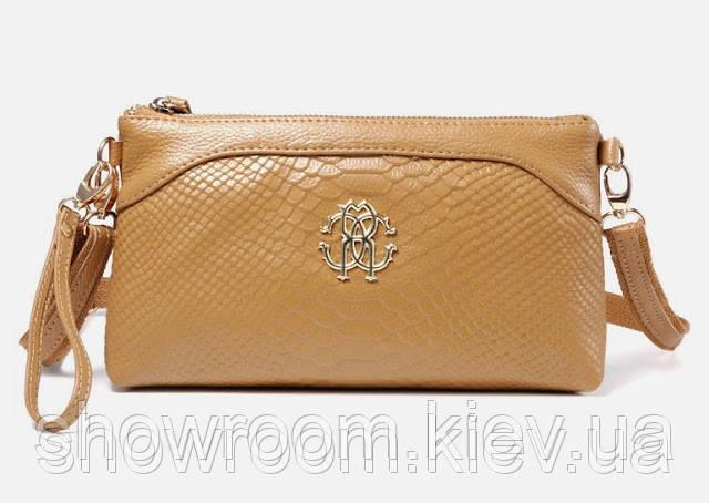 Клатч - сумка в стиле Roberto Cavalli (бежевый цвет)