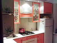 Кухня с рисунком на стекле МДФ пленочный 014