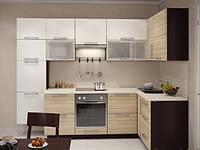 Кухня на заказ эко-минимализм МДФ пленочный 015