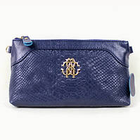 Клатч - сумка в стиле Roberto Cavalli (синий цвет)